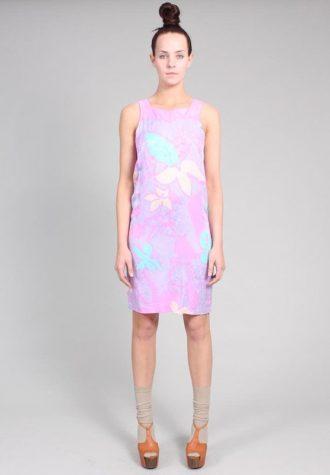 dámské světle růžové šaty s potiskem Ramona West (65 USD)
