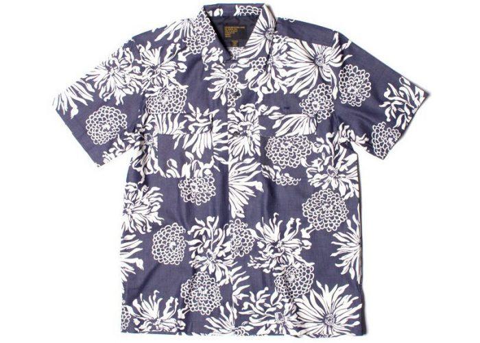 pánská bílo-modrá košile s potiskem Freshjive - Tradition ($ 32)