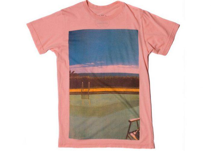 pánské růžové triko s potiskem Warrior of Radnes - Swimming Pool ($ 15)
