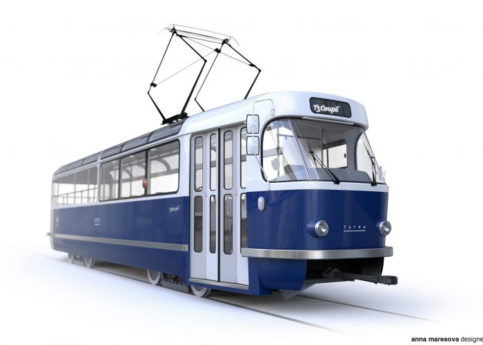 vzhled tramvaje T3 Coupé