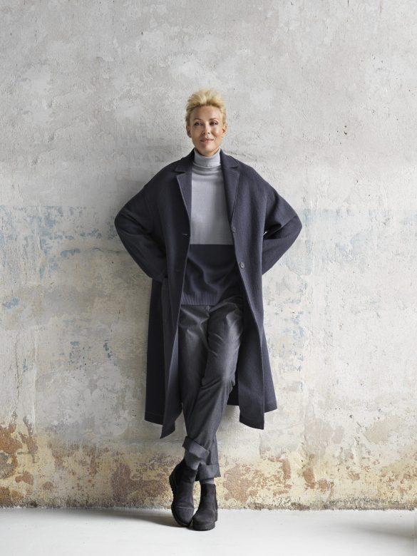 dámský šedý kabát Timoure et group