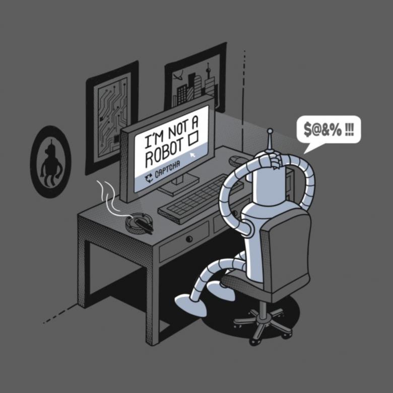 Threadless, tričko I'm not a robot