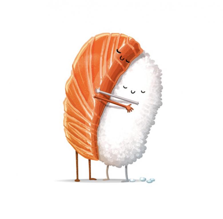 Threadless, tričko Sushi Hug