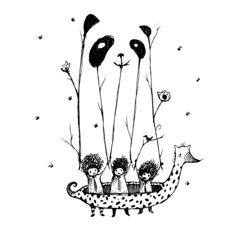 Threadless, tričko Fake pandas have more fun