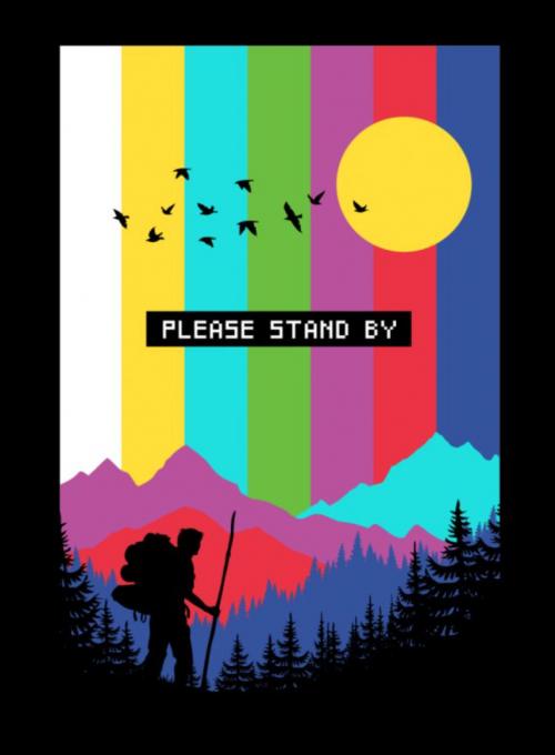 Threadless, tričko Please stand by